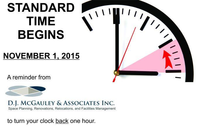 Standard Time reminder