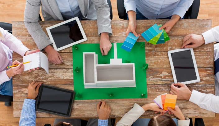http://www.dreamstime.com/stock-image-close-up-business-team-project-layout-people-work-concept-creative-color-palettes-tablet-pc-computers-sitting-image50590301